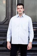 VEB Herrenhemden Blankenburg Herren Hemd shirt blau 70er True VINTAGE 70´s men