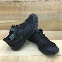 Nike Mens Free 5.0 Running Shoes Black 642198-020 Lace Up Breathable Mesh 7