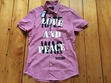 Love Moschino men's love and peace shirt, size M