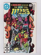 THE NEW TEEN TITANS 24 SIGNED GEORGE PEREZ W/COA MARV WOLFMAN ROBIN TALES