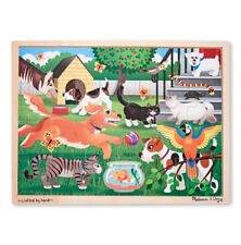 Melissa & Doug 24 piece Pets At Play Wooden Jigsaw Puzzle