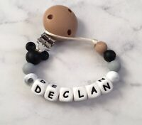 Personalised Disney Inspired dummy clip Dummy Chain Pacifier