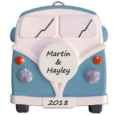 VW style Camper Van - Personalised in BLUE - Plaque  - Truly for You