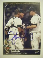 JOHN DUFFY signed 2007 GREENSBORO baseball card AUTO Autographed SOUTH ALABAMA