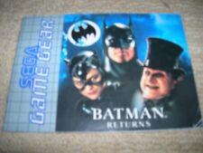BATMAN RETURNS - Rare  Sega Game Gear Instruction Booklet