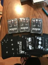 Lot Of 3 NIB Sealed POWER Playing Cards by Starz Channel Promo Item