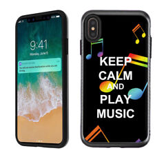 For Apple iPhone Xs Max 2-Layer Case (Brushed BLK) - Keep Calm Music
