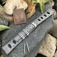 19mm Rally Skindiver Grey Rubber Dive Watch 1960s nos Vintage Watch Band