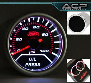 Universal 52MM Auto Car Oil Pressure Gauge Race Dial Smoke JDM LED Monitor Meter