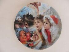 """D'Arceau-Limoges Porcelain 8.5"""" Plate,  """"Noel 1986"""""""