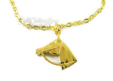 """Gold Horse Lover Necklace for 18"""" American Girl Doll Clothes Cowgirl"""