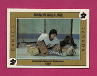 RARE 1993 MANON RHEAUME PEEWEE TOURNAMENT # 002 LIMITED SOUVENIR COLLECTION CARD