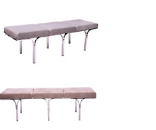 New Stainless Steel Bench Hair On Leather Seat  For Home Decoration