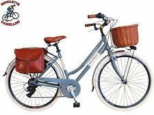 D VV Fahrrad Retrò citybike bike Cruiser frau damen alu aluminium grau