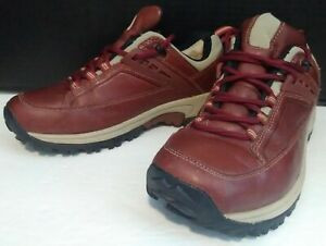 Merrell Performance Footwear Women's 7 Vie Red Bean Leather Hiking Shoes