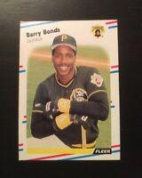 Barry Bonds 1988 Fleer Baseball #322  Pittsburgh Pirates