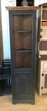 "Solid Wood - 24"" Primitive Corner Cabinet Farmhouse Cottage Cupboard Distressed"