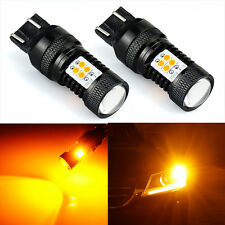 JDM ASTAR 2x 7443 7440 Amber Yellow 3030 SMD LED Turn Signal Blinker Lights Bulb