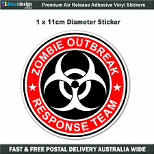 Zombie Outbreak Response Team Sticker 11cm Car Window Fridge Bumper #Z010