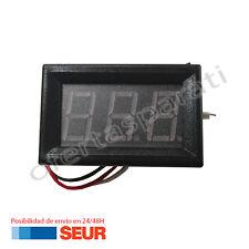 Voltimetro Digital LED Medidor de Voltaje Empotrable Rango DC 0V - 99.9V