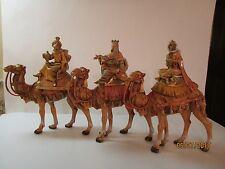 Large Fontanni Nativity Wise Men Set Of 3-Italy-1983- Depousse