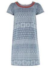 Monsoon Niña Vestido de color ámbar Chambray-Azul 6 años de edad