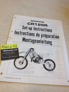 Honda CR125R CR125 R Cr 125 Instrucciones Preparation Instalacion Manual #