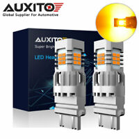 2x AUXITO 3157 3156 T25 24SMD Canbus LED Turn Signal Indicator Light Bulb Amber