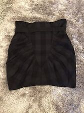 New Without Tags All Saints Cheque Rosalind Skirt Black And Grey Size 8