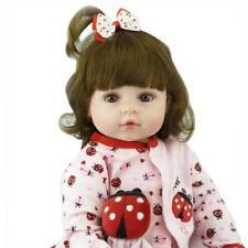 "24"" Reborn Toddler Girl Baby Doll Lifelike Soft Silicone Vinyl Newborn Bebe Toy"