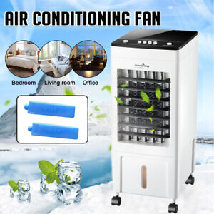 8L Air Cooler Conditioner Portable Humidifier Ice Cooling Fan Floor Standing UK