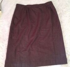 Orvis skirt Size 20 Plus Size Lined USA Wool Blend Career