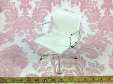 Dollhouse Miniature Furniture Office Home Work White Vinyl Task Chair 1:12
