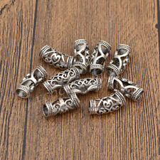 10pcs Hair Braid Dread Dreadlock Beads Cuff Tube Clips Women Metal Hair Jewelry