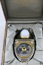 SEKONIC 18K GOLD-PLATED STUDIO DELUXE LIGHT METER L-398 w/ Box