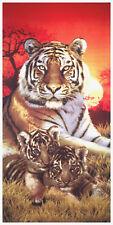 "30x60"" Tiger And Cubs Premium Velour Beach Towel"