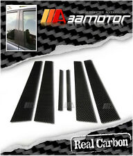 Real Carbon Fiber Door Pillar Panel Covers for Mitsubishi Evolution EVO 7 8 & 9