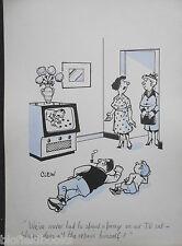 """Clifford C Lewis """"angolo di scotta"""" Originale Penna E Inchiostro CARTONI ANIMATI-TV Riparazione, PAPA' & Son #93"""