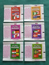 RARE DANDY GUM WAX WRAPPERS-FLAG PARADE-SET OF SIX EXCELLENT CONDITION