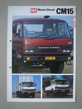 NISSAN DIESEL South-Africa  CM 15 trucks  specification brochure / Datenprospekt