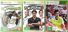 Top Spin 2, Top Spin 3 and Top Spin 4 Microsoft Xbox 360