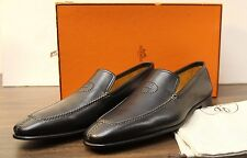 """Hermes Mens Leather """"H"""" Semelle Cuir Dress Loafers Shoes Size 10.5 (44)"""