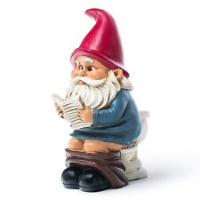 NEW Big Mouth Toys Gnome on a Throne Garden Gnome - FREE SHIPPING