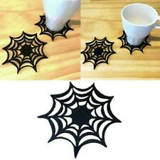 2019 New Halloween Spider Webs Non-Woven Cloth Cup New Table Coaster Placem C1N4