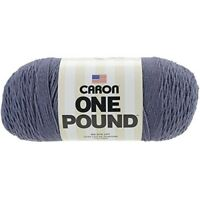 Caron One Pound Solids Yarn - (4) Medium Gauge 100% Acrylic - 16 Oz - Denim- -