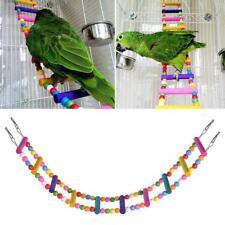 Holz Papagei Sitzstange Papagei Vogelleiter Papageienspielzeug Vogelspielze D5Z2