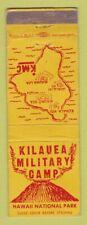 Matchbook Cover - Kilauea Military Cap Hawaii WEAR