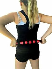 """Roller Body Massage Stick Bar Muscle Relief Back Neck Leg Arm 18 inch Red """"NEW"""""""