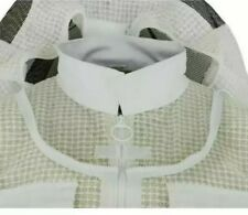 3 Layer Unisex Ultra Ventilated White Round Veil Bee Jacket With Gloves. 4XL