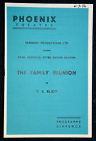 1956 THE FAMILY REUNION  Theatre Programme SYBIL THORNDIKE  HARRY H CORBETT